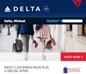 delta skymiles shopping