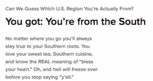 Can Buzzfeed Guess Which US Region You Are From? - Michael W